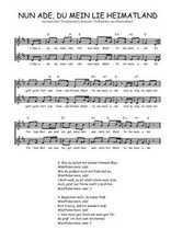 Téléchargez l'arrangement de la partition de Traditionnel-Nun-ade-du-mein-lieb-Heimatland en PDF à deux voix