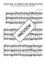 Téléchargez l'arrangement de la partition de Traditionnel-Nun-ade-du-mein-lieb-Heimatland en PDF à trois voix