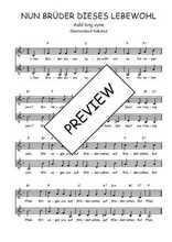 Téléchargez l'arrangement de la partition de Traditionnel-Nun-Bruder-dieses-Lebewohl en PDF à deux voix