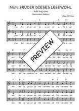 Téléchargez l'arrangement de la partition de Traditionnel-Nun-Bruder-dieses-Lebewohl en PDF à trois voix