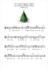 La partition gratuite de O Christmas tree