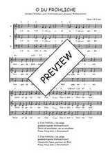 Téléchargez l'arrangement de la partition de Traditionnel-O-du-frohliche en PDF à trois voix