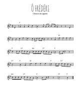 Téléchargez la partition en Sib de la musique chant-militaire-o-frederi en PDF