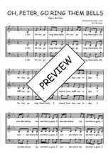 Téléchargez l'arrangement de la partition de Traditionnel-O-Peter-go-ring-them-bells en PDF à trois voix