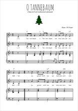 Téléchargez la partition de O Tannenbaum en PDF pour 2 voix égales et piano