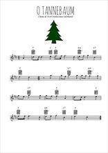 Téléchargez la partition pour saxophone en Mib de la musique noel-allemand-o-tannenbaum en PDF