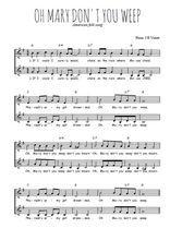 Téléchargez l'arrangement de la partition de spiritual-mary-don-t-you-weep en PDF à deux voix