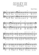 Téléchargez l'arrangement de la partition de american-folk-old-black-joe en PDF à deux voix