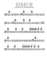 Téléchargez la partition en Sib de la musique american-folk-old-black-joe en PDF