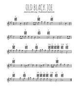 Téléchargez la partition pour saxophone en Mib de la musique american-folk-old-black-joe en PDF