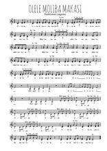 Téléchargez l'arrangement de la partition de Traditionnel-Olele-Moliba-Makasi en PDF à trois voix