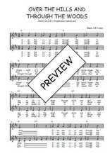 Téléchargez l'arrangement de la partition de Traditionnel-Over-the-hills-and-through-the-woods en PDF à deux voix