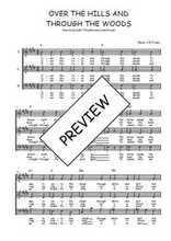 Téléchargez l'arrangement de la partition de Traditionnel-Over-the-hills-and-through-the-woods en PDF à trois voix