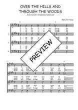 Téléchargez l'arrangement de la partition de Traditionnel-Over-the-hills-and-through-the-woods en PDF à quatre voix