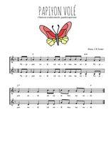 Téléchargez l'arrangement de la partition de Traditionnel-Papiyon-vole en PDF à deux voix