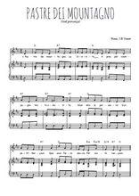 Téléchargez la partition de Pastre dei mountagno en PDF pour Chant et piano