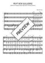 Téléchargez la partition de Peat bog soldiers en PDF pour 3 voix SAB et piano