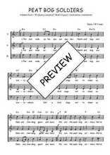 Téléchargez l'arrangement de la partition de Traditionnel-Peat-bog-soldiers en PDF à trois voix