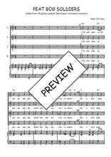 Téléchargez la partition de Peat bog soldiers en PDF pour 4 voix SATB et piano
