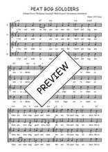 Téléchargez l'arrangement de la partition de Traditionnel-Peat-bog-soldiers en PDF à quatre voix