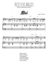Téléchargez la partition de Petit escargot en PDF pour Chant et piano