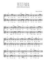 Téléchargez l'arrangement de la partition de Traditionnel-Petit-papa en PDF à deux voix
