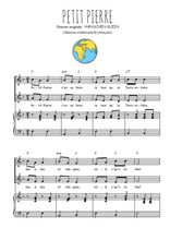 Téléchargez la partition de Petit Pierre en PDF pour 2 voix égales et piano