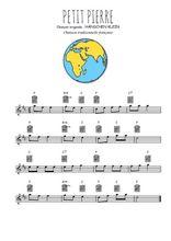Téléchargez la partition pour saxophone en Mib de la musique comptine-petit-pierre en PDF