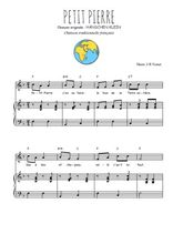 Téléchargez la partition de Petit Pierre en PDF pour Chant et piano