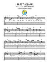 Téléchargez la tablature de la musique comptine-petit-pierre en PDF