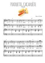 Téléchargez la partition de Pirouette, cacahuète en PDF pour 2 voix égales et piano