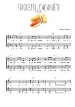 Téléchargez l'arrangement de la partition de Traditionnel-Pirouette-cacahuete en PDF à deux voix