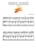 Téléchargez la partition de Pirouette, cacahuète en PDF pour Chant et piano