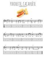 Téléchargez la tablature de la musique Traditionnel-Pirouette-cacahuete en PDF