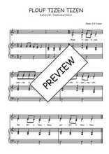 Téléchargez la partition de Plouf tizen tizen en PDF pour 2 voix égales et piano