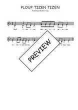 Téléchargez l'arrangement de la partition de Traditionnel-Plouf-tizen-tizen en PDF à deux voix