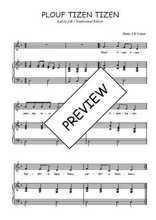 Téléchargez la partition de Plouf tizen tizen en PDF pour Chant et piano