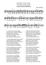 Téléchargez l'arrangement de la partition de Traditionnel-Prinz-Eugen en PDF à deux voix
