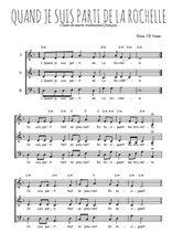 Téléchargez l'arrangement de la partition de chant-de-marins-quand-je-suis-parti-de-la-rochelle en PDF à trois voix