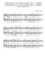 Téléchargez l'arrangement de la partition de Traditionnel-Quandu-li-pesci-del-mare en PDF à deux voix