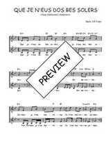 Téléchargez l'arrangement de la partition de Traditionnel-Que-je-n-eus-dos-bes-solers en PDF à deux voix