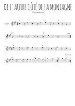 Téléchargez la partition pour saxophone en Mib de la musique quebec-de-l-autre-cote-de-la-montagne en PDF