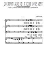 Téléchargez la partition de Qui peut faire de la voile sans vent en PDF pour 3 voix SSA et piano