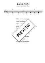 Téléchargez l'arrangement de la partition de Traditionnel-Rana-cucu en PDF à deux voix
