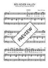 Téléchargez la partition de Red river valley en PDF pour 2 voix égales et piano