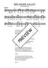 Téléchargez l'arrangement de la partition de folk-red-river-valley en PDF à deux voix