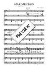Téléchargez la partition de Red river valley en PDF pour 3 voix SAB et piano