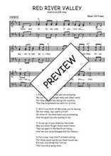 Téléchargez l'arrangement de la partition de folk-red-river-valley en PDF à trois voix