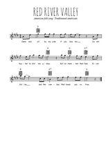 Téléchargez la partition en Sib de la musique folk-red-river-valley en PDF