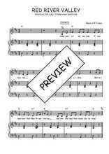 Téléchargez la partition de Red river valley en PDF pour Chant et piano